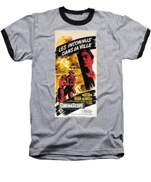 Film Noir Poster   Violent Saturday Baseball T-Shirt