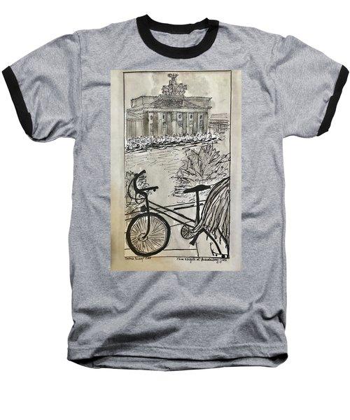 Fina And Bicycle At Brandenburg Gate Baseball T-Shirt