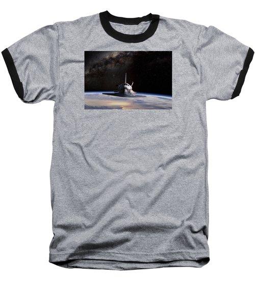 Final Frontier Baseball T-Shirt by Peter Chilelli