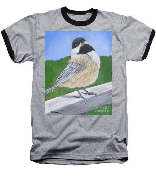 Finch Baseball T-Shirt by Patricia Cleasby