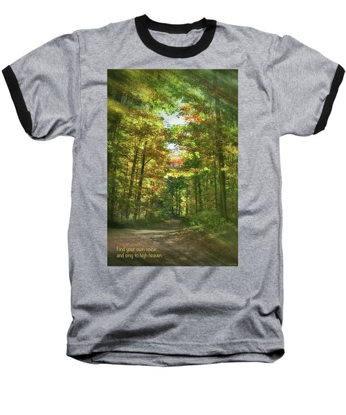 Find Your Own Voice Baseball T-Shirt