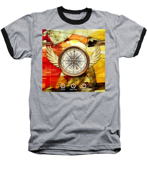 Baseball T-Shirt featuring the mixed media Finding Direction by Marvin Blaine