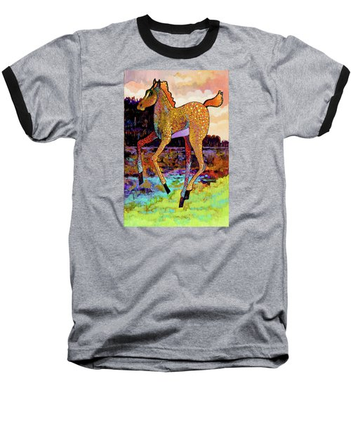 Finding His Legs Baseball T-Shirt by Bob Coonts