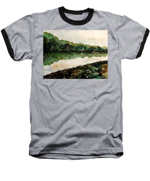 Finding The Place To Cross Baseball T-Shirt by Lisa Aerts