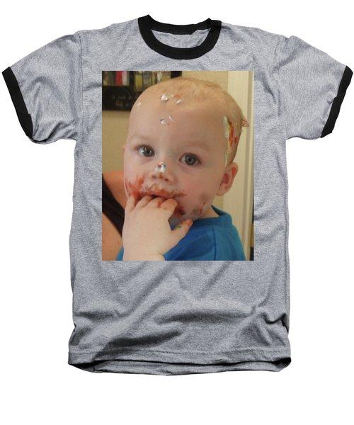 Finger Lickin Good Baseball T-Shirt by Val Oconnor