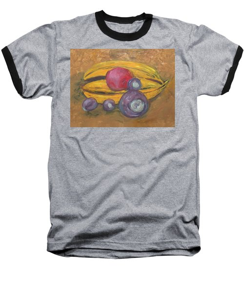 Fingerpainted Fruit Baseball T-Shirt
