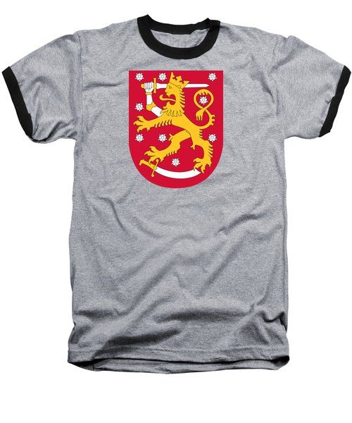 Finland Coat Of Arms Baseball T-Shirt by Movie Poster Prints