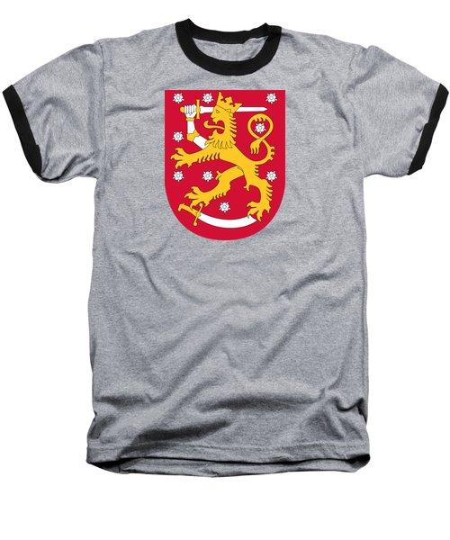 Finland Coat Of Arms Baseball T-Shirt