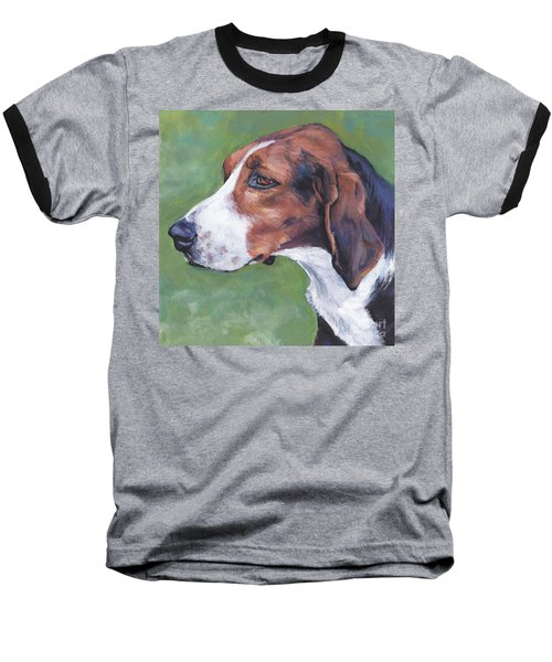 Baseball T-Shirt featuring the painting Finnish Hound by Lee Ann Shepard