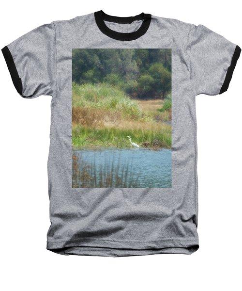 Finnon Lake Egret Baseball T-Shirt