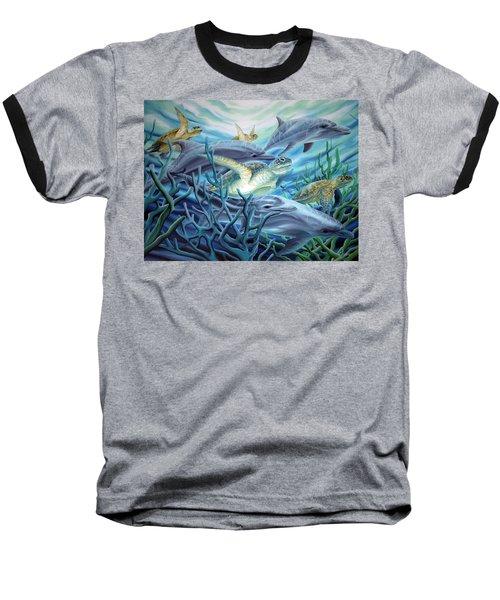 Fins And Flippers Baseball T-Shirt