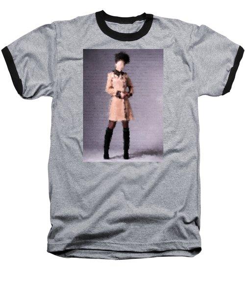 Baseball T-Shirt featuring the digital art Fiona by Nancy Levan