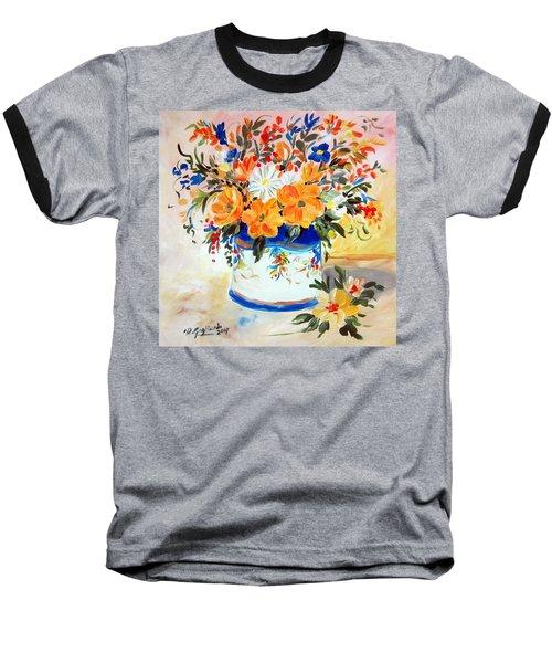 Fiori Gialli Natura Morta Baseball T-Shirt