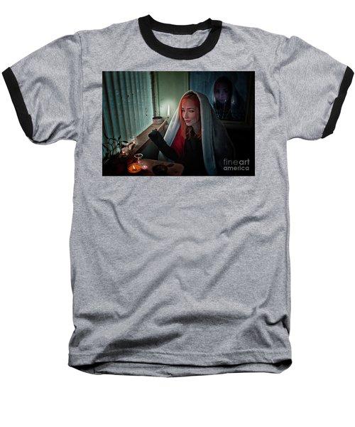 Fire Baseball T-Shirt by Agnieszka Mlicka