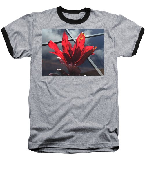 Fire And Ice Baseball T-Shirt