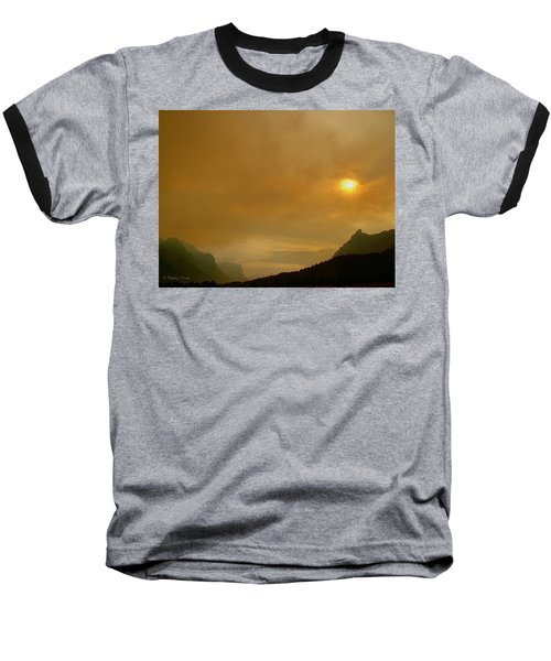 Fire And Sun Baseball T-Shirt