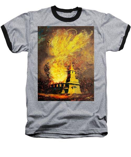 Fire Angel Baseball T-Shirt
