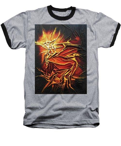Fire Baseball T-Shirt by Angela Stout