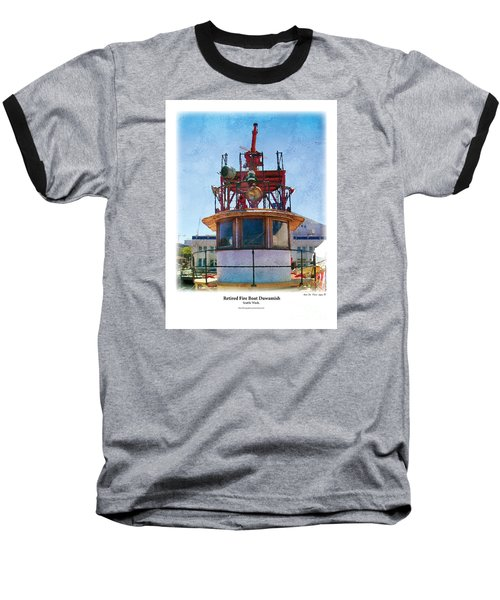 Baseball T-Shirt featuring the painting Fire Boat by Kenneth De Tore