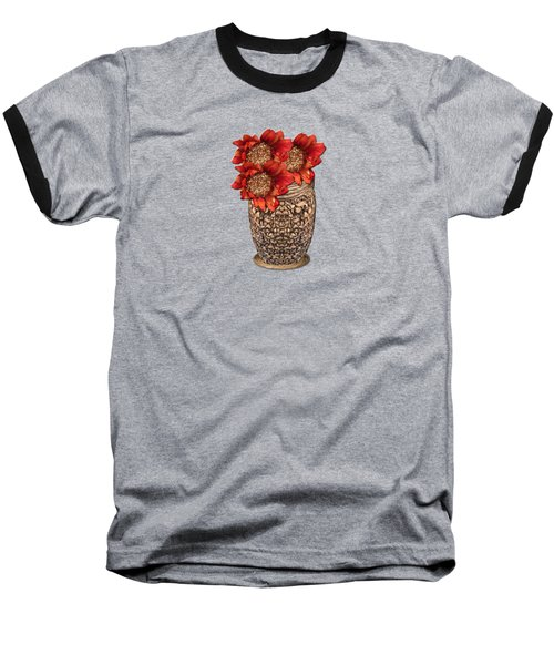 Fire Brick Flora Vase Baseball T-Shirt