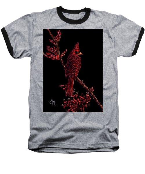 Fire Cardinal Baseball T-Shirt