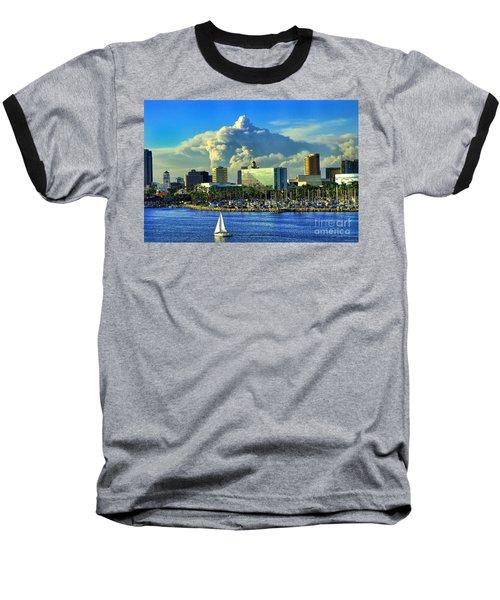 Baseball T-Shirt featuring the photograph Fire Cloud Over Long Beach by Mariola Bitner