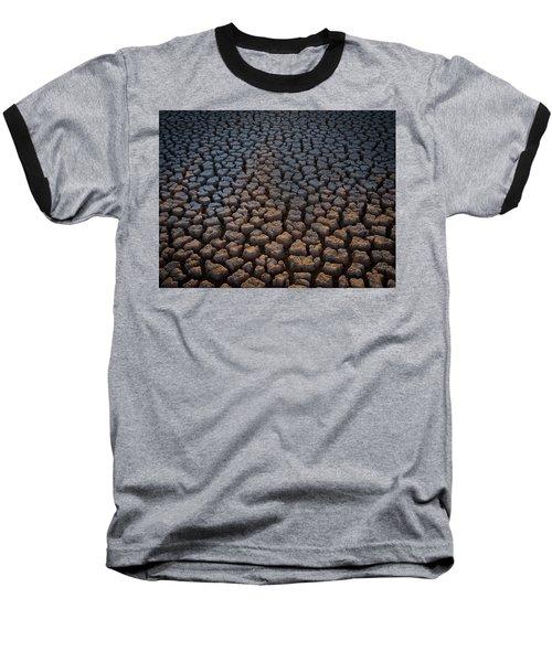 Fire Cracks Baseball T-Shirt