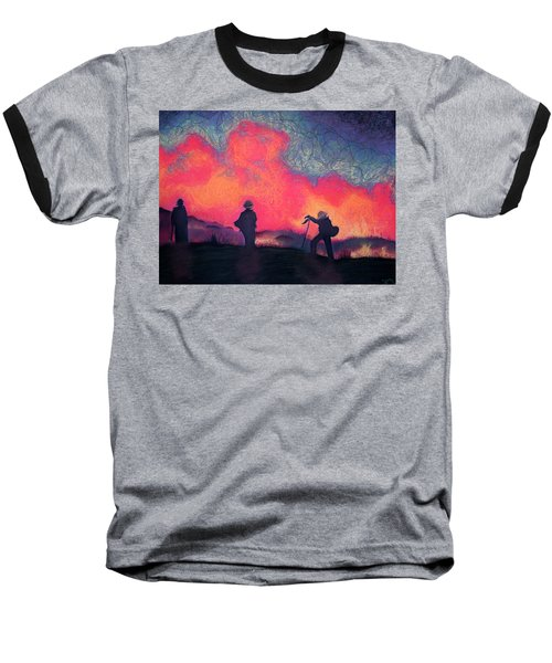 Fire Crew Baseball T-Shirt by Joshua Morton