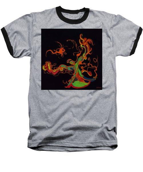 Fire Dancer Baseball T-Shirt