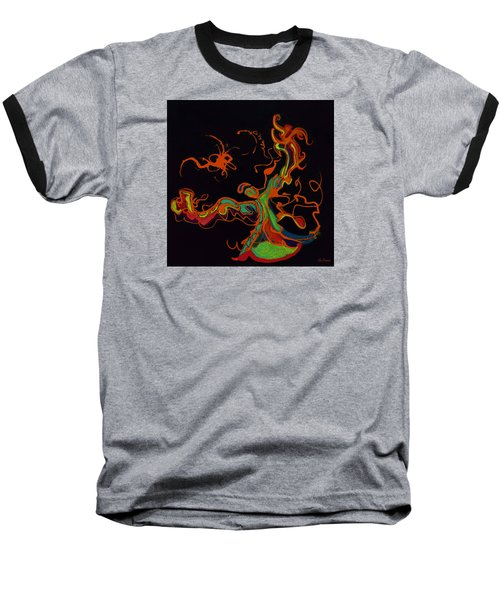 Fire Dancer Baseball T-Shirt