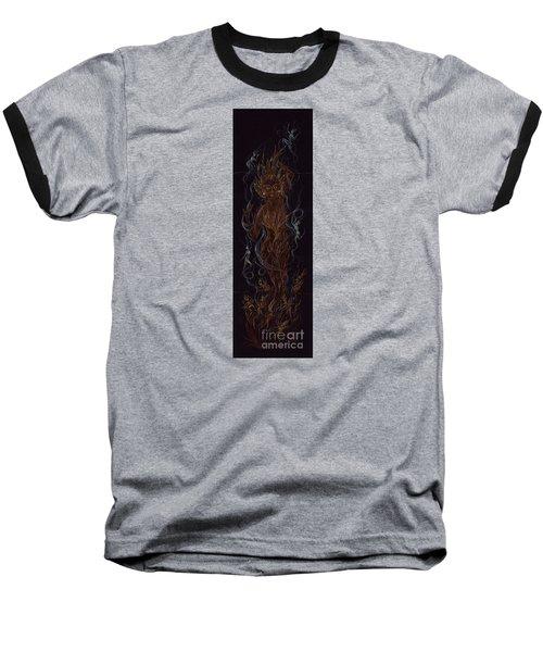 Fire Baseball T-Shirt by Dawn Fairies