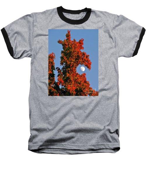 Fire Dragon Tree Eats Moon Baseball T-Shirt by CML Brown
