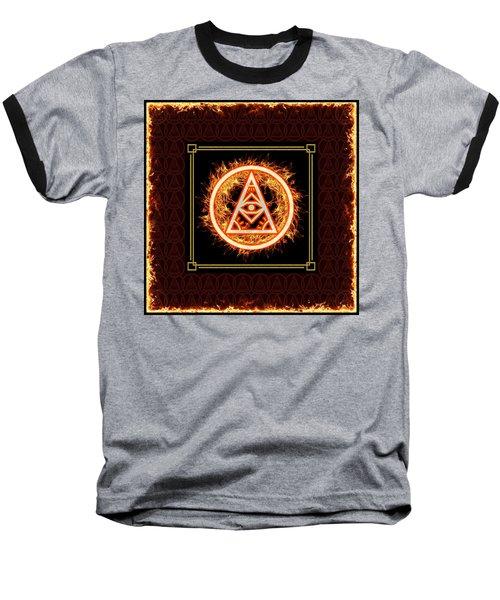 Baseball T-Shirt featuring the digital art Fire Emblem Sigil by Shawn Dall