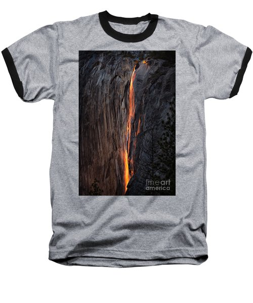 Fire Fall Baseball T-Shirt