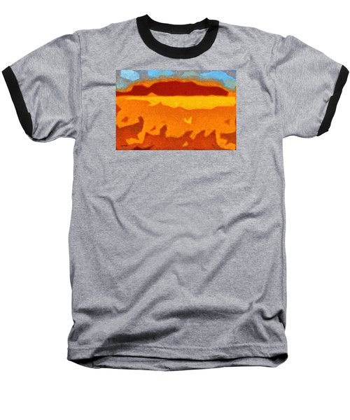 Baseball T-Shirt featuring the digital art Fire Hill by Spyder Webb