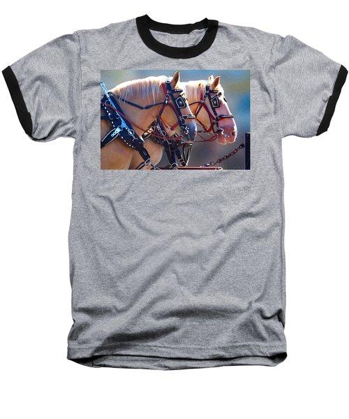 Fire Horses Baseball T-Shirt