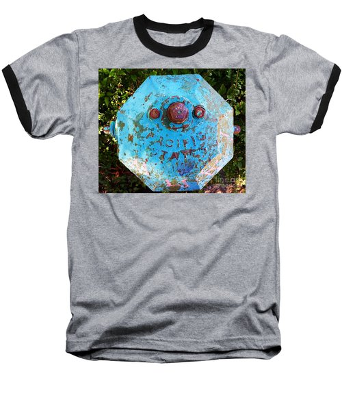 Fire Hydrant #3 Baseball T-Shirt by Suzanne Lorenz