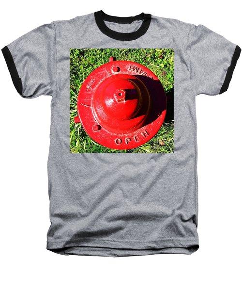 Fire Hydrant #8 Baseball T-Shirt by Suzanne Lorenz