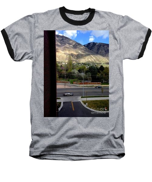Baseball T-Shirt featuring the photograph Fire Hydrant Guarding The Byu Y by Richard W Linford