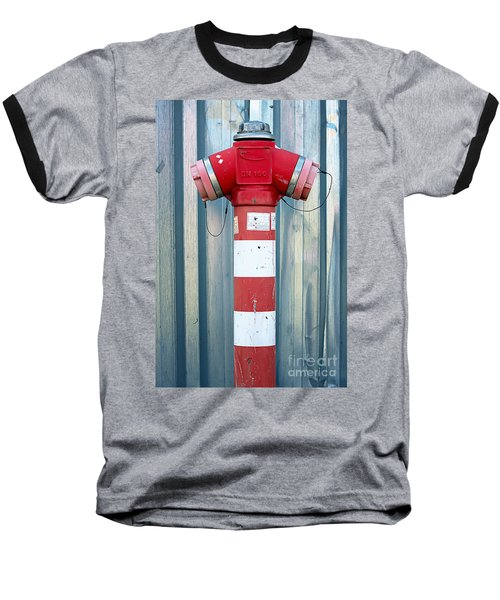 Fire Hydrant Steel Wall Baseball T-Shirt