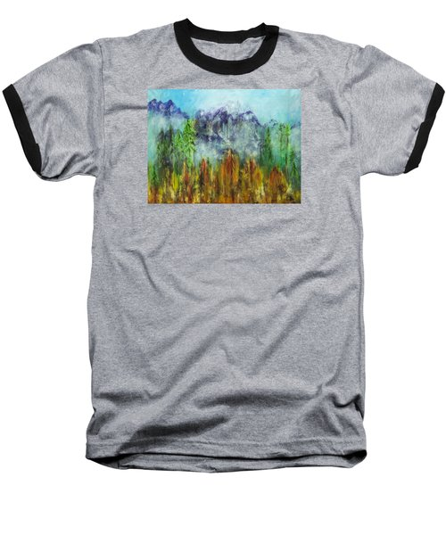 Fire In Glacier Park Baseball T-Shirt