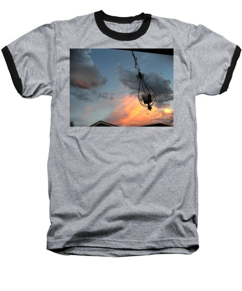 Fire In The Clouds Baseball T-Shirt