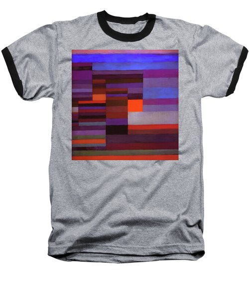 Fire In The Evening Baseball T-Shirt by Paul Klee