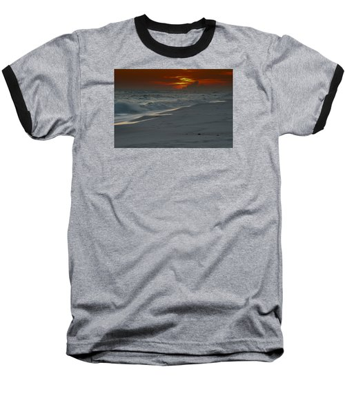 Baseball T-Shirt featuring the photograph Fire In The Horizon by Renee Hardison