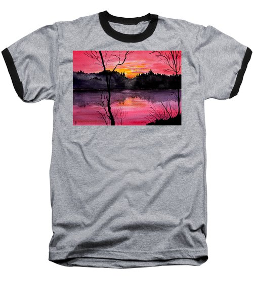Fire In The Sky    Lake Arrowhead Maine Baseball T-Shirt