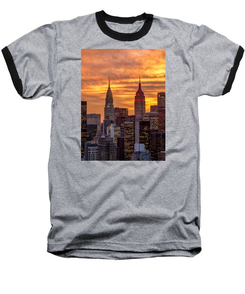 Fire In The Sky Baseball T-Shirt by Anthony Fields