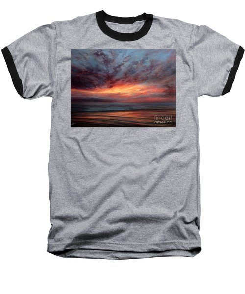 Fire In The Sky Baseball T-Shirt by Valerie Travers