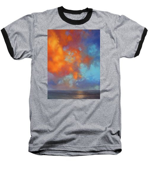 Fire In The Sky Baseball T-Shirt by Vivien Rhyan
