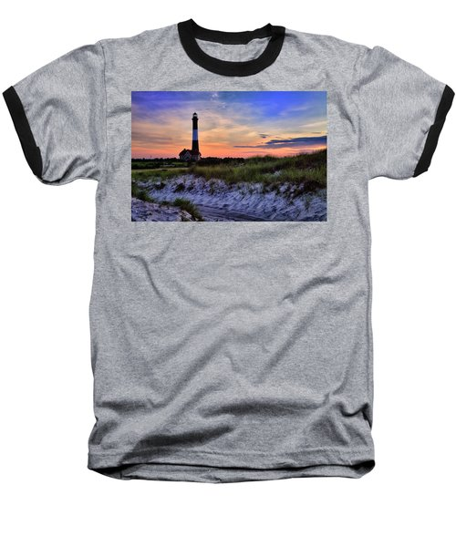 Fire Island Lighthouse Baseball T-Shirt