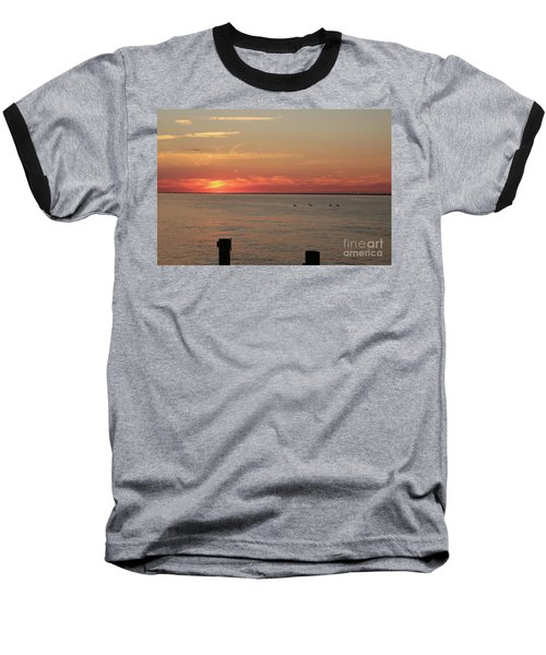 Fire Island Sunset Baseball T-Shirt